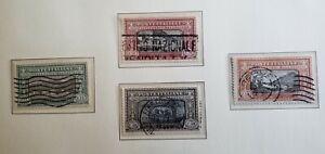 francobolli regno d'italia 1923 Manzoni lotto 4 valori usata