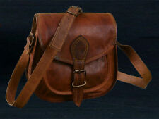 Women Vintage Brown Leather Messenger Cross Body Handmade Saddle Bag