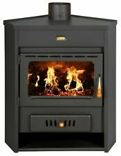 Wood Burning Stove Corner Model Fireplace Log Burner Solid Fuel Prity 12kw