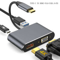 2/4 in 1 Type C To HDMI cable/adapter 4k*2k Type C To HDMI VGA 3.1 USB C PD HUB