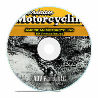American Motorcycling Magazine, 60 Issues, 1955-1959, Harley Lifestyle DVD D02
