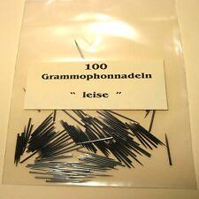 100 Grammophonnadeln Leise, Schellack Nadeln 78 RPM Gramophone Needles soft Tone
