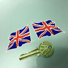 British 'Union Jack' Flag Wavy 2 in stickers Britain UK