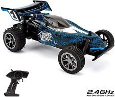 Feengesteuertes Auto CMJ RC Spielzeug 1:16 Fernbedienung Buggy 2,4 Ghz Blau