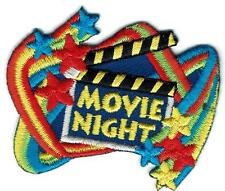 Girl Boy Cub MOVIE NIGHT sign Patches Crest Badges SCOUT GUIDE party trip tour