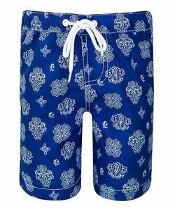 NWT Sun Emporium Bandanna Print Swim Board Shorts Size 4 $53