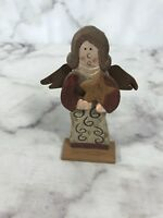 Angel Small Wood Primitive Rustic Decor Christmas Table Top Display Decoration