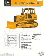 Equipment Brochure - John Deere - 750B - Narrow-Gauge Bulldozer - c1985 (E2100)