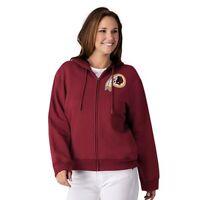 NFL Washington Redskins Officially Licensed Women's Full Zip Hoodie G-III Red