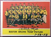 *SIGNED* WILLIE O'REE *INSCRIBED* 1/18/58 ~ 1963-64 Topps #21 BOSTON BRUINS~EXNM