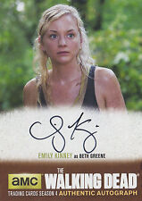 The Walking Dead Season 4/1 Autograph Card EK1 Emily Kinney As Beth Greene