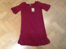 NWT Juicy Couture New & Gen. Burgundy Cotton Blend Dress Girls Age 8 With Logo