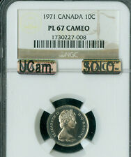 1971 CANADA 10 CENTS NGC PL-67 CAM UCAM MAC SOLO FINEST REGISTRY SPOTLESS *