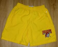 "Pittsburgh Pirates New Yellow Sports or Casual Shorts Waist Size 34"",Embroidered"