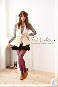 Sheer Tights with Polka Dot Pattern- Purple