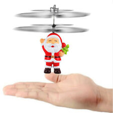 RC Flying Santa Claus Helicopter Remote Control Hand Sensor Kids Christmas Toys