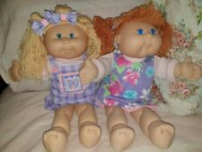 Two Play Along Cabbage Patch dolls