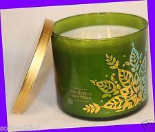 Bath & Body Works Eucalyptus Spearmint 3-Wick Filled 14.5 oz Candle Holiday 2013