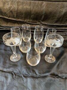 7 X Altes Rosenthal Glas Signiert