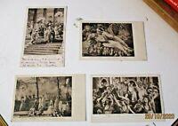 cinema muto QUO VADIS (UNIONE CINEMATOGRAFICA ITALIANA) 4 cartoline FP NV 1924
