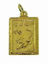 HOT Zodiac Charm AQUARIUS Chinese Year of the Tiger Fortune Jewelry 24K Gold Pla