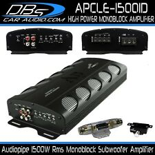 Audiopipe APCLE-15001D Monoblock Subwoofer Amplifier 1500W Rms Mono Bass Sub Amp