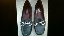Coach Black Leather Flat Shoes Size 5 1/2 M