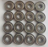 16 Pack Skate Bearings, roller skate derby rollerblade inline hockey 8mm 608zz