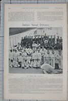 1901 PRINT INDIA'S NAVAL DEFENCE ON BOARD THE MAGDALA COAST DEFENCE TURRET SHIP