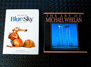 RARE! THE ART OF MICHAEL WHELAN + THE ART OF BLUE SKY STUDIOS - BOTH HARDCOVER!