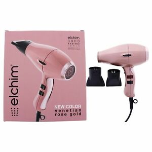 3900 Healthy Ionic Hair Dryer - Venetian Rose Gold by Elchim for Unisex - 1 Pc