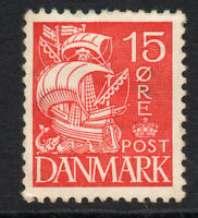 Denmark 15 Ore c1927 Mounted Mint Stamp (2187)