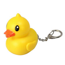 Cute Rubber Duck LED Flashlight Quacks Keychain New Fashion Accessory Hot Sell