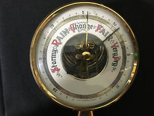 Barometer Weather Forecast Instrument Gauge Rain Stormy Made in Western Germany