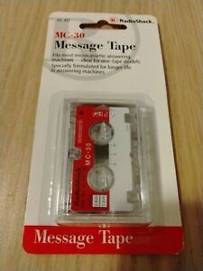 Vintage Radio Shack M-30 Minute Incoming Message Tape . New old stock