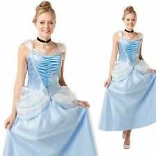 Ladies Official Cinderella Costume Womens Disney Princess Fancy Dress Outfit