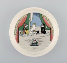 """Arabia, Finland. """"midsummer madness"""" Porcelain plate with motif from """"Moomin"""""""