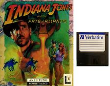 "INDIANA JONES FATE ATLANTIS floppy 3,5"" Commodore Amiga backup game disk (READ)"