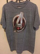 Marvel Avengers Logo Shirt Medium Age Of Ultron Men's Iron Man Captain America