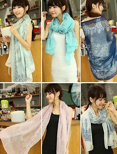 women lady fashion all season scarf brand new blue pink cream green *