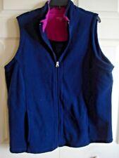 Ladies Outdoor Vest Fleece Navy Size 3X Laura Scott