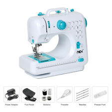 With 12 Built-In Stitches Free-Arm Sewing Machine Blue Nex Household Sewing