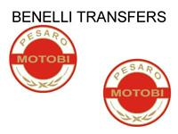 Benelli Motobi Tank Transfers and Decals Sold as a Pair