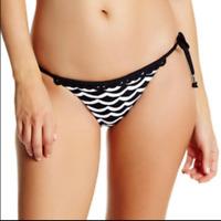 Seafolly Tidal Wave Brazilian Tie Bikini Bottom ~ US 10 ~ SF Size 14 - Black