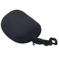 Small Wayfarer Folding Sunglasses Case Black w/ Key Chain Ring and Clip Zipper
