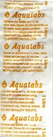 Aquatabs 50 pack water purification tablet treatment strong cheapest 1 lt 8.5mg