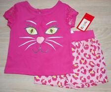 Baby Mädchen Sommer Kleid 💕 Set 2tlg 💕 KATZE 💕 Shirt + Shorts 💕 74/80/86