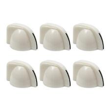 New 6pcs White Amplifier Knobs Chicken Head Knobs Guitar Amp Knobs
