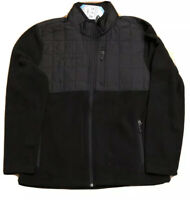 Free Country Overlay Black Fleece Jacket. Men's size Medium NWT