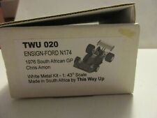 TWU THIS WAY UP 1/43 ENSIGN FORD N174 SOUTH AFRICAN GP 1976 CHRIS AMON TWU020